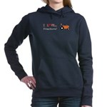 I Love Orange Tractors Women's Hooded Sweatshirt