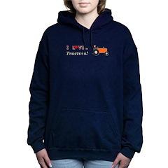 I Love Orange Tractors Women's Hooded Sweatshirt