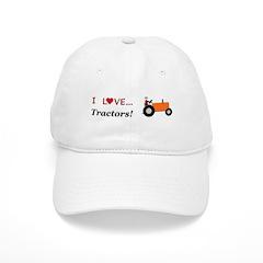 I Love Orange Tractors Baseball Cap
