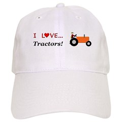 I Love Orange Tractors Baseball Cap