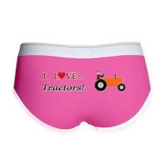 I Love Orange Tractors Women's Boy Brief