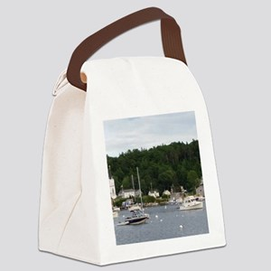 Boothbay Harbor Waterfront Boats Canvas Lunch Bag