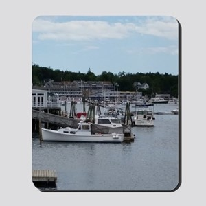 """Boothbay Harbor """"On the Waterfront"""" Mousepad"""