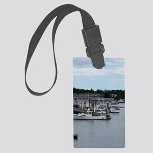 "Boothbay Harbor ""On the Waterfro Large Luggage Tag"