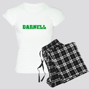 Darnell Name Weathered Green Design Pajamas
