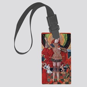 Medieval Painting Large Luggage Tag