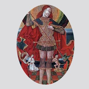 Medieval Painting Oval Ornament