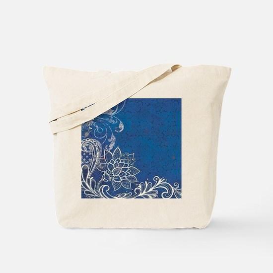 beach blue white lace  Tote Bag