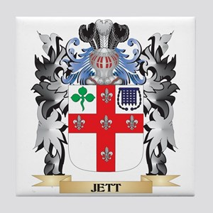 Jett Coat of Arms - Family Crest Tile Coaster