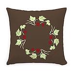 Raspberry Wreath Everyday Pillow