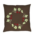 Raspberry Wreath Everyday Pillow