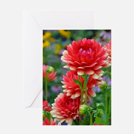 Cool Red flower Greeting Card