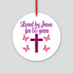 CHRISTIAN 55TH Ornament (Round)