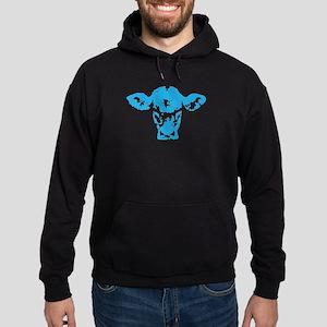 Blue cow Hoodie (dark)