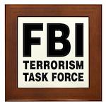 FBI Terrorism Task Force Framed Tile