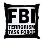 FBI Terrorism Task Force Throw Pillow