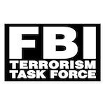FBI Terrorism Task Force Rectangle Sticker