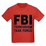 FBI Terrorism Task Force Kids Dark T-Shirt
