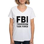 FBI Terrorism Task Force Women's V-Neck T-Shirt