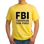 FBI Terrorism Task Force Yellow T-Shirt