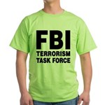 FBI Terrorism Task Force Green T-Shirt