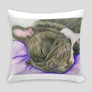 Sleepy Frenchie Everyday Pillow