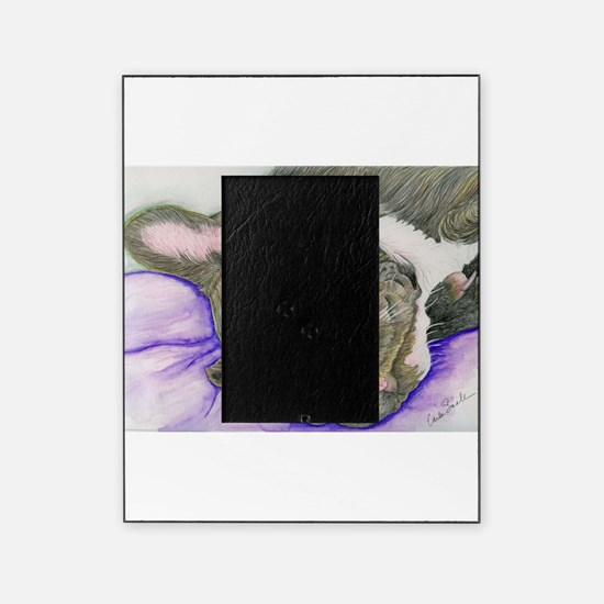 Sleepy Frenchie Picture Frame