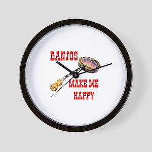 HAPPY BANJO Wall Clock