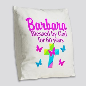 DELIGHTFUL 60TH Burlap Throw Pillow