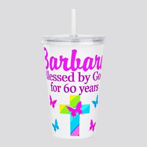 DELIGHTFUL 60TH Acrylic Double-wall Tumbler