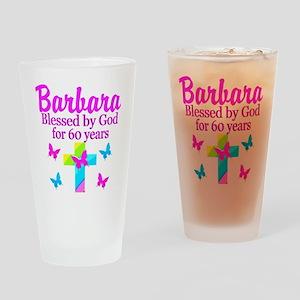 DELIGHTFUL 60TH Drinking Glass