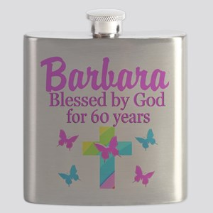 DELIGHTFUL 60TH Flask