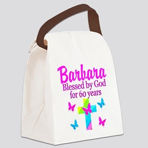 DELIGHTFUL 60TH Canvas Lunch Bag