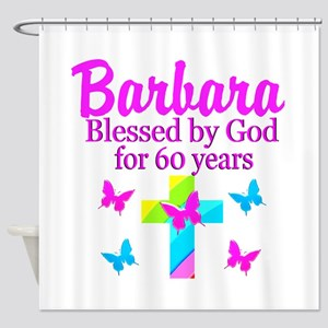 DELIGHTFUL 60TH Shower Curtain