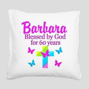 DELIGHTFUL 60TH Square Canvas Pillow