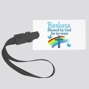 DELIGHTFUL 60TH Large Luggage Tag