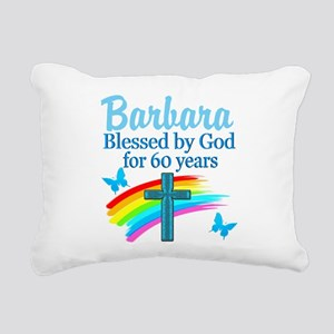DELIGHTFUL 60TH Rectangular Canvas Pillow