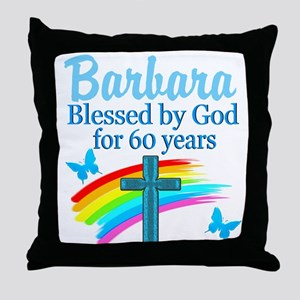 DELIGHTFUL 60TH Throw Pillow