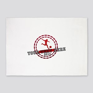 Personalized Sport Tag 5'x7'Area Rug