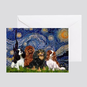Starry / 4 Cavaliers Greeting Card
