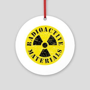 Radioactive Materials Round Ornament