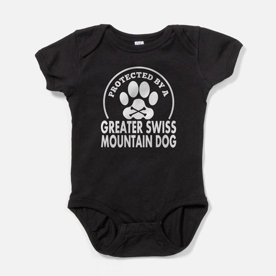 Protected By A Greater Swiss Mountain Dog Baby Bod
