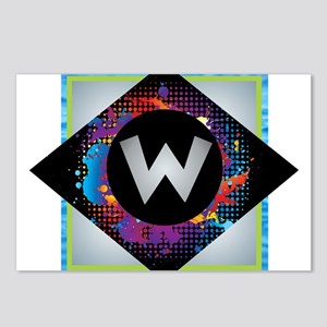 W - Letter W Monogram - B Postcards (Package of 8)