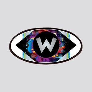 W - Letter W Monogram - Black Diamond W - Le Patch