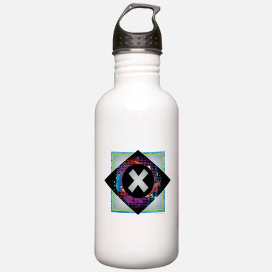 X - Letter X Monogram Water Bottle