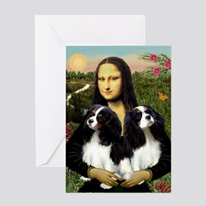 Mona's 2 Cavaliers Greeting Card