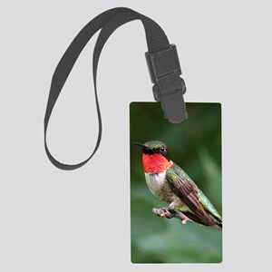 Ruby-Throated Hummingbird Large Luggage Tag
