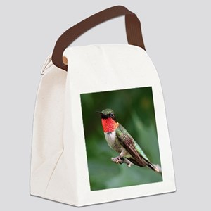 Ruby-Throated Hummingbird Canvas Lunch Bag