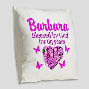 LOVING 65TH Burlap Throw Pillow