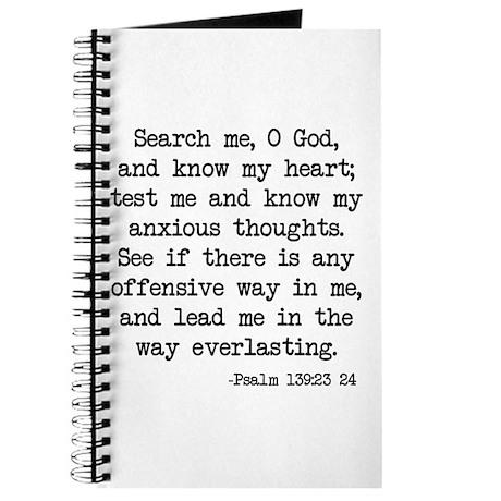 Psalm 139:23-24 Journal